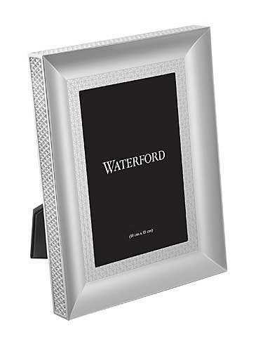 """Waterford Lismore Diamond Silver 5x7"""" Picture Frame"""