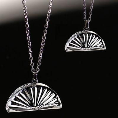 Cashs Crystal Irish Sunset Pendant Necklace, Medium