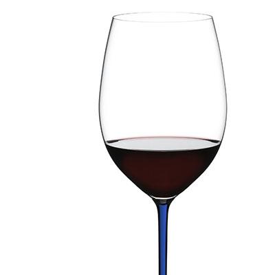 Riedel Fatto A Mano Cabernet, Merlot Glass, Blue