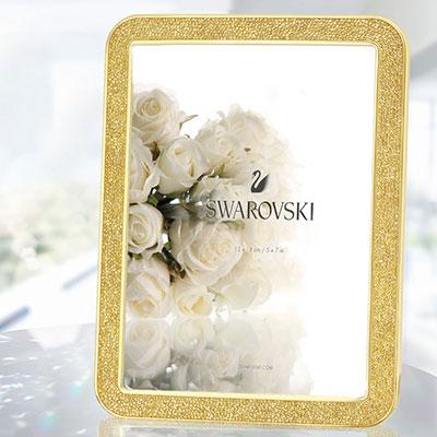 Swarovski Minera Gold Tone Picture Frame