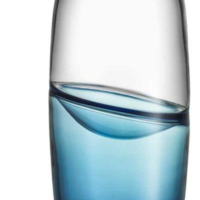 Kosta Boda Septum Vase, Steel Blue, Limited Edition of 300