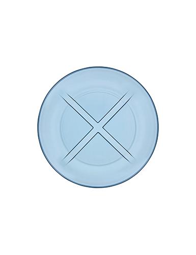 Kosta Boda Bruk Water Blue Salad Plate, Set of Four