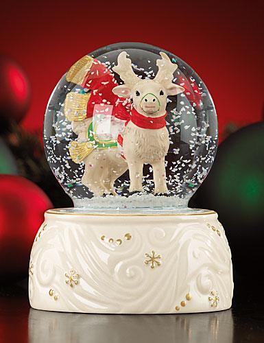 Lenox Reindeer Snow Globe