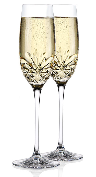 Cashs Annestown Champagne Toasting Flutes, Pair