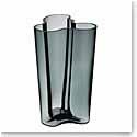 "Iittala Alvar Aalto Finlandia 10"" Vase, Dark Grey"
