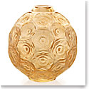 Lalique Anemones Bud Vase, Gold Luster