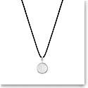 Lalique Vibrante Round Pendant Necklace, Silver