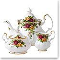 Royal Albert China Old Country Roses 3-Piece Tea Set