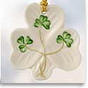 Belleek China Shamrock Shaped Ornament