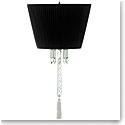 Baccarat Torch Ceiling Lamp W Black Shade Red, White and Black Tassel Cluded