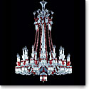 Baccarat Zenith Red and Clear 24 Light Chandelier, Long
