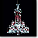 Baccarat Zenith Red and Clear 48 Light Chandelier