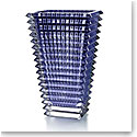 Baccarat Small Eye Rectangular Vase, Blue