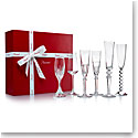 Baccarat Cocktail Champagne Boxed Set of Six Crystal Glasses, Bubble Box