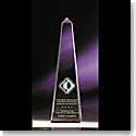 "Crystal Blanc, Personalize! 12"" Optical Obelisk"