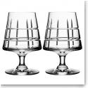 Orrefors Street Cognac Glasses Pair