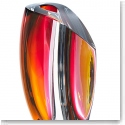 Kosta Boda Mirage Large Vase, Grey and Red