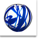 Kosta Boda Blue Globe Vase