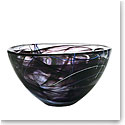 "Kosta Boda Contrast Large Bowl, Black, 13 3/4"" D"