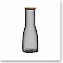 Kosta Boda Bruk Carafe with Oak Lid, Smoke Grey