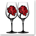 Kosta Boda Tattoo Wine Glasses, Pair
