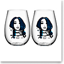 Kosta Boda All About You Tumbler Pair, Miss You Blue