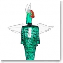 Kosta Boda Art Glass, Kjell Engman Check Man Green Limited Edition