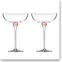 Lenox Kate Spade Rosy Glow Champagne Saucers