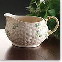 Belleek China Shamrock Cream Jug
