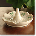 Belleek China Shamrock Ring Holder