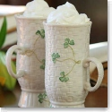Belleek China Irish Coffee Mugs, Pair