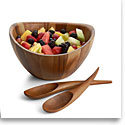 Nambe Wood Gourmet Harmony 3 Piece Salad Set