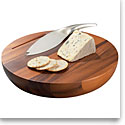 Nambe Wood Gourmet Harmony Cheese Board With Knife