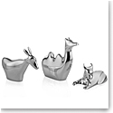 Nambe Metal Mini Nativity 3 Animals, Donkey, Camel, Bull
