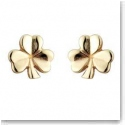Cashs 18K Gold-Plated Shamrock Pierced Earrings Pair