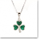 Cashs Sterling Silver Shamrock Necklace