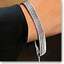 Cashs Sterling Silver Diamante Soft Bracelet