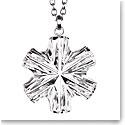 Cashs Crystal Snowflake Pendant Necklace, Medium