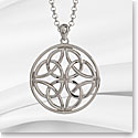 Cashs Sterling Silver Round Celtic Trinity Knot Pendant Necklace