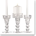 Cashs Crystal Cooper Double Knob Unity Candleholder Set
