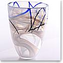 """Kosta Boda Contrast 7 7/8"""" Vase, White"""