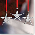 Nambe 2016 Mini Classic Modern Star Ornament, Set of 3