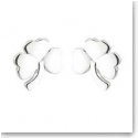 Cashs Sterling Silver Small Shamrock Pierced Earrings Pair