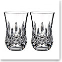 Waterford Lismore Flared Sipping Whiskey Tumbler, Pair